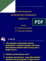 Teknik Menjawab Kertas 2 SPM