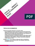 Tipos de Ecommerce y Tipos de Consumidor Online