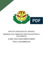 CIRCUITOS ELÉCTRICOS Y ELECTRONICOS DESARROLLO DE TEMARIO