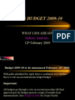 Indian Budget 2009-10 due on 16th Feb