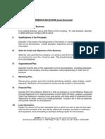 SBA Business Plan Outline