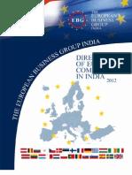European Companies in India 2012