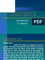 presentation on Central Sales Tax & VAT