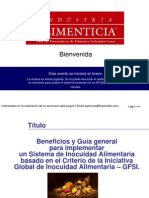 Benefi y Guia General Pa Imple Un Siste de Inocuidad