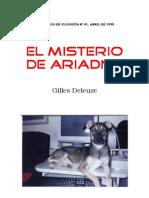 Gilles Deleuze - El Misterio de Ariadna