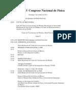 Programa LV Congreso Nacional de Física