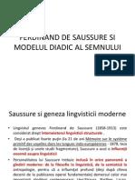 Saussure Si Modelul Diadic Al Semnului