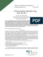DWT Based Watermarking Algorithm using Haar Wavelet
