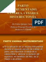 (45)  PARTO INSTRUMENTADO, CESÁREA, CESÁREA HISTERECTOMÍA