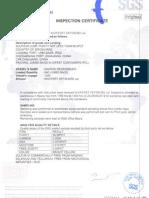 FO 238- SGS Certificate No 84