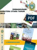 Kebijakan Pembangunan Provinsi Sumatera Utara Tahun 2013