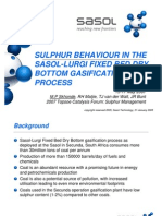 Sulphur Behaviour