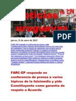 Noticias Uruguayas Jueves 31 de Enero Del 2013