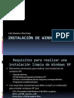 Instalacion de Windows XP