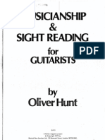 Musicianship and sight reading for guitarist