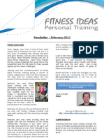 Fitness Ideas Newsletter