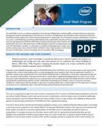 Intel Math Brochure