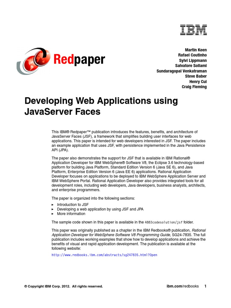 ibm jsf | Java Server Faces | Software Development
