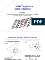 Basics of DFT applications to solids and surfaces