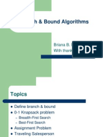 Branch And Bound Design And Analysis Of Alogorithm