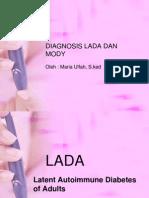Diagnosis Lada Dan Mody