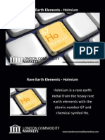 Fact sheet for rare earth element - Holmium