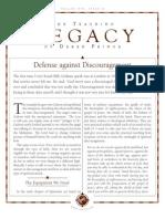 Defense Against Discouragement