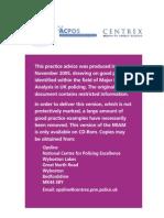Major Incident Analysis Manual