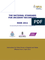 THE NATIONAL STANDARD FOR INCIDENT RECORDING