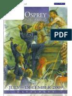 Catalogul publicatilor Osprey iulie-decembrie 2009