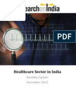 Healthcare Sector in India Monthly Update December 2012