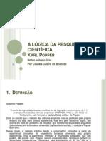 A LÓGICA DE KARL POPPER
