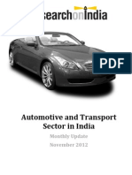 Automotive and Transport Sector in India November 2012