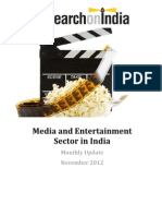 Media and Entertainment in India Monthly Update November 2012