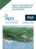 Classification of Hazardous and Non-Hazardous Substances in Groundwater