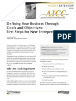 Defining Your Business Through Goals and Objectives