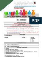 FICHA DE INSCRIÇÃO III LEMEL e II SEPEX  janeiro de 2013