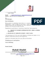 RUBAB HR GENERALIST CV 2013