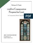 Twelve Communion Propers for Lent