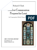 Twelve Communion Propers for Lent