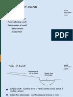 Hydrology RAINFALL  -  RUNOFF  ANALYSIS