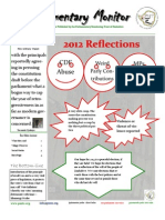 Parliamentary Monitor Newsletter Issue 1.13