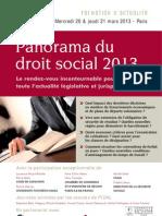 20 et 21 mars 2013 - Panorama du droit social 2013
