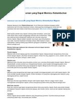 Dokterumum.net-Makanan Dan Minuman Yang Dapat Memicu Kekambuhan Migrain