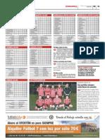 Publicación de las clasificaciones de las ligas Futbolcity en Superdeporte. Miércoles 30 de enero 2013