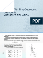 Systems With Time-Dependent Coefficient MATHIEU'S EQUATION