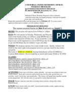 Summer 2013 Registration Forms