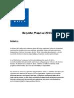 Reporte Mundial HRW México 2013