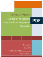 Chemistry project on nicotine