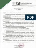 Hotarare nr. 16 privind mariri de note din semestrul 1, anul 2012-2013